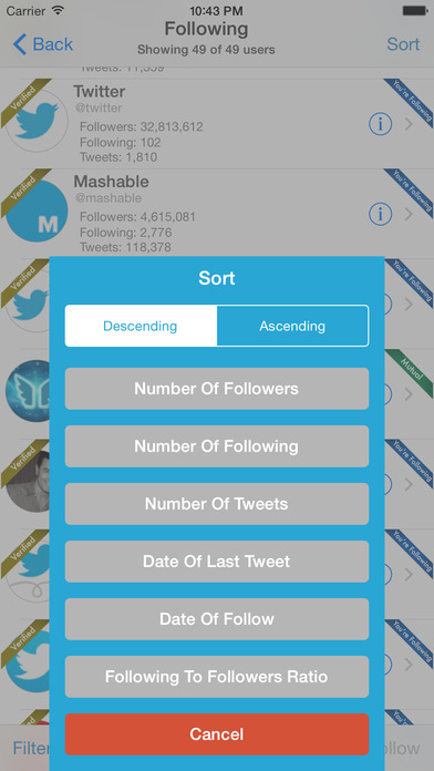 Find Unfollowers And Track New Followers For Twitter Screenshot