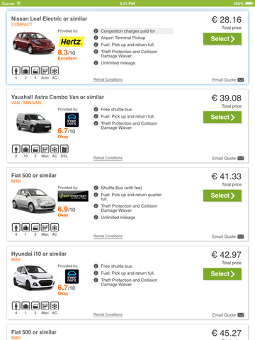 The best car rental apps for iPhone - appPicker