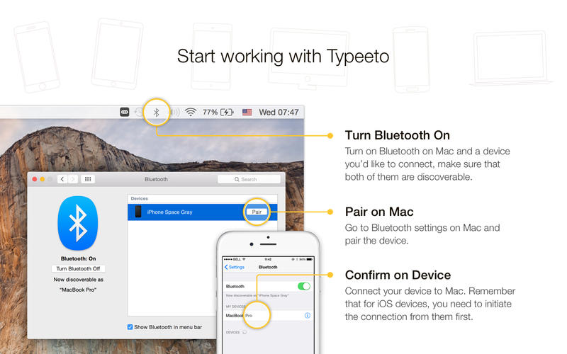 Typeeto: remote full size bluetooth keyboard Screenshot