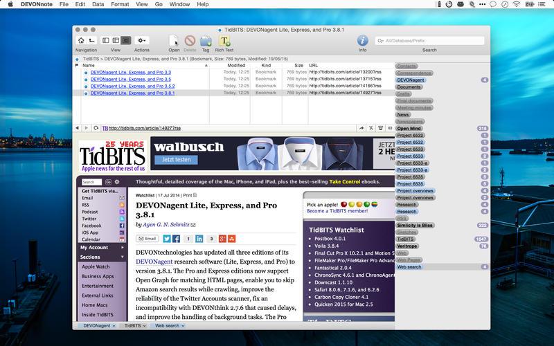 DEVONnote 项目笔记管理软件[Mac] $17.99丨反斗软件值得买
