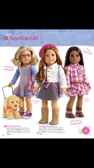 American Girl Catalogue Screenshot
