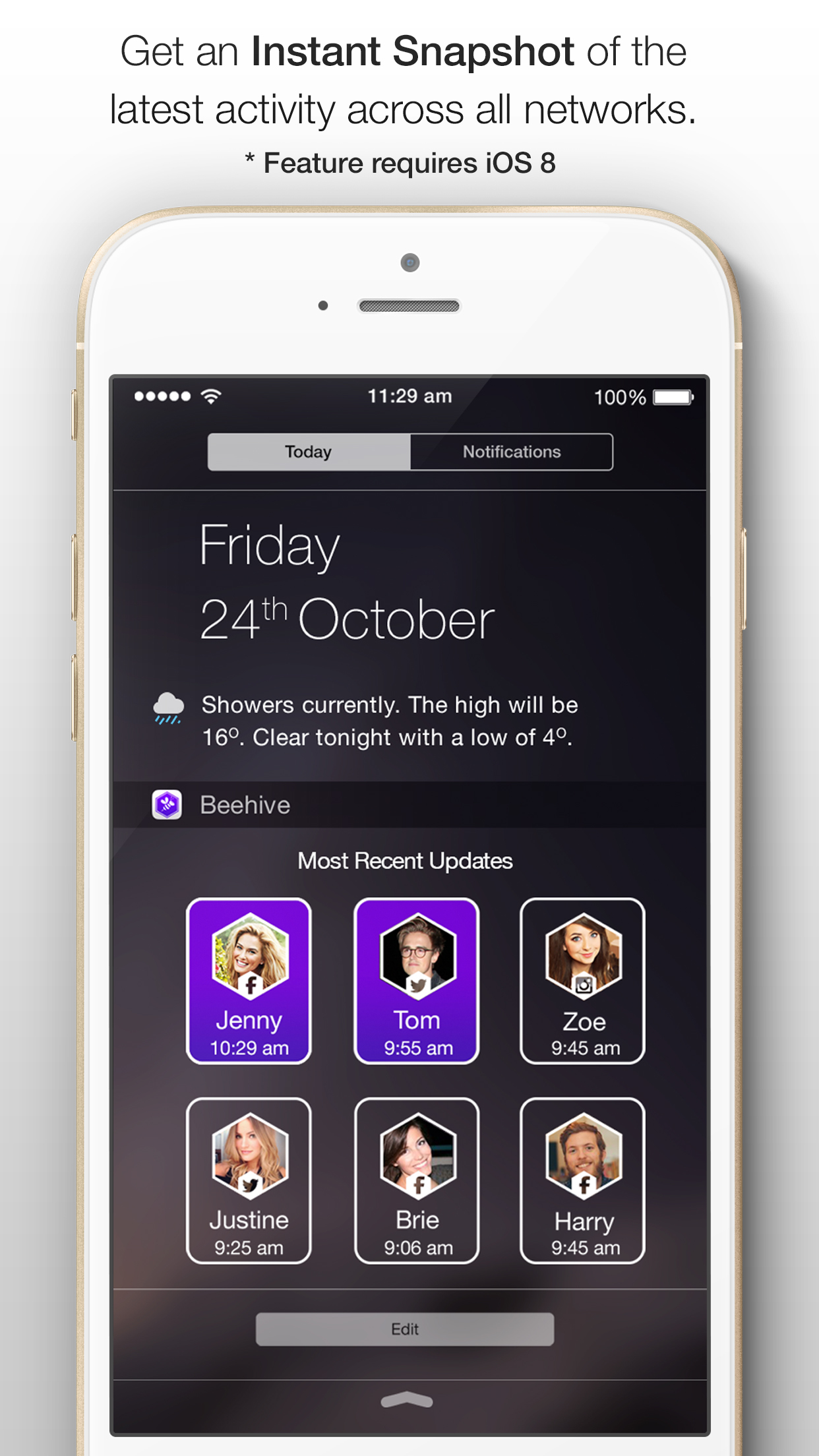 Beehive - Social Digest & Widget for Facebook, Twitter and Instagram