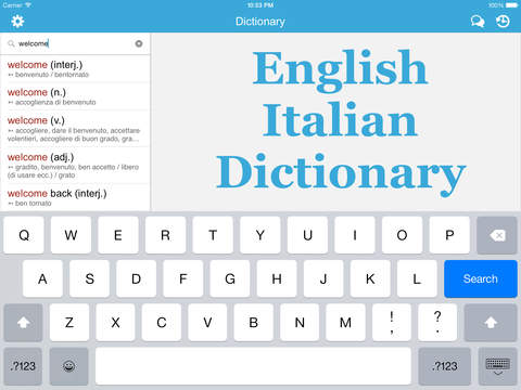 Italian English Dictionary & Translator Free / Dizionario e