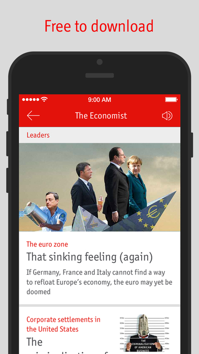 The Economist for iPhone Screenshot