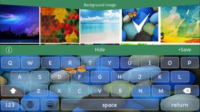 Custom Keyboard for iOS 8 -  Pimp your font , color & background + emoji FREE HD Screenshot on iOS