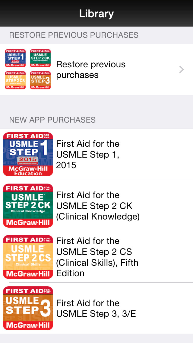 App Shopper: First Aid for the USMLE: Step 1, Step 2 CK, Step 2 CS