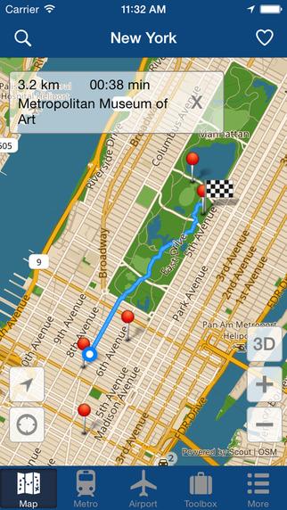 Iphone Map Of New York Offline.New York Offline Map City Metro Airport With Travel Trip Planner