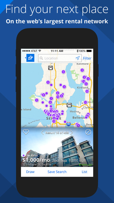 Apartments & Homes for Rent - Zillow Rentals Screenshot