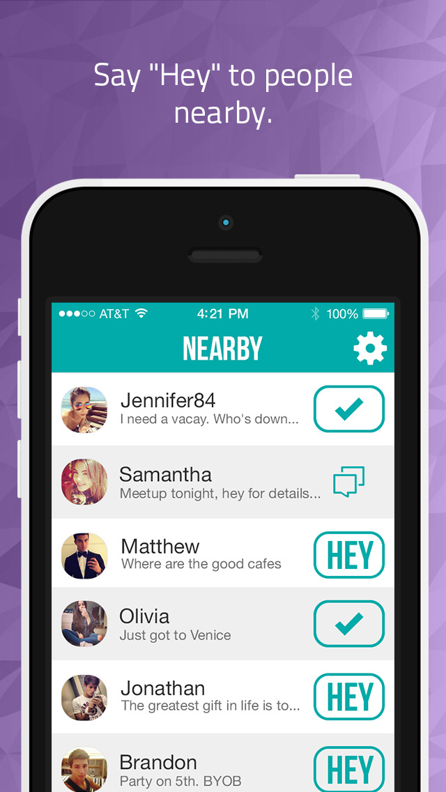 App Shopper: Hey - Chat with people nearby (Social Networking)
