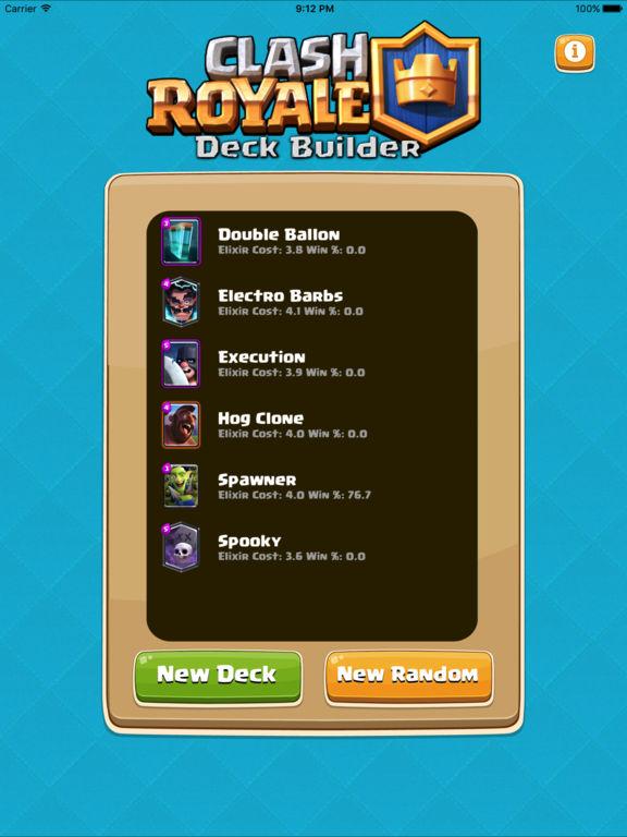 deck builder for clash royale building guide by touchmint llc. Black Bedroom Furniture Sets. Home Design Ideas