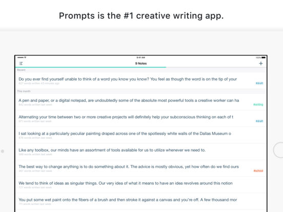 Prompts - For Creative Writing Screenshot
