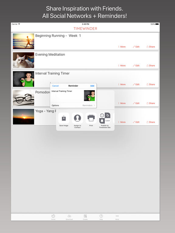 Timewinder – Interval Timer and Task Manager Screenshot