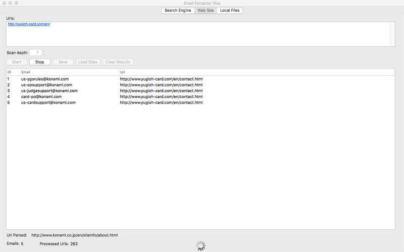 Email Extractor Vius by Igor Uscov - App Info
