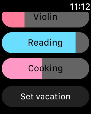 Continuo - Simple Activity Tracking Screenshot