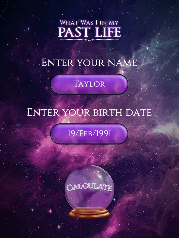 Past Life Number Calculator