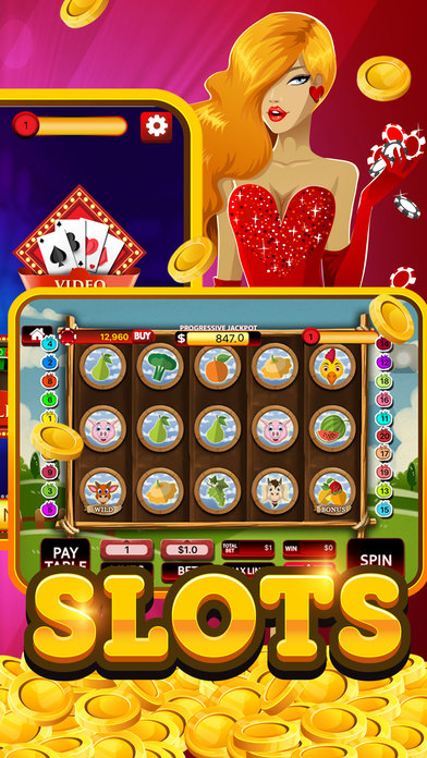 Lucky Play & Win Slots - Big Jackpot Party Casino Screenshot on iOS