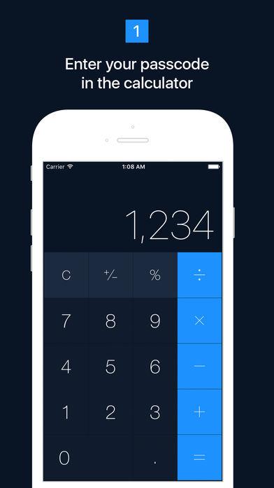 Iphone calculator picture hider