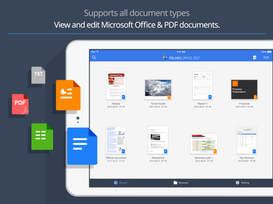 Polaris Office 2017 - Docs editor, PDF reader Screenshot