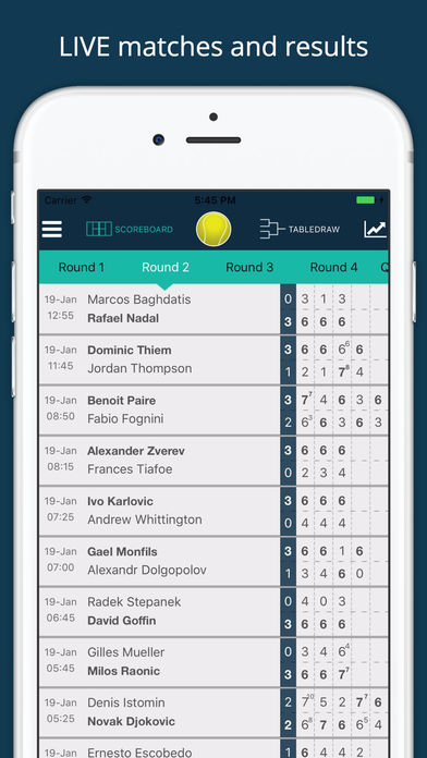Live Tennis Scores + for Championships Wimbledon App ...
