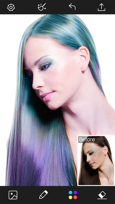 Multiple Hair Coloring: Styles Salon & Recolor Booth App