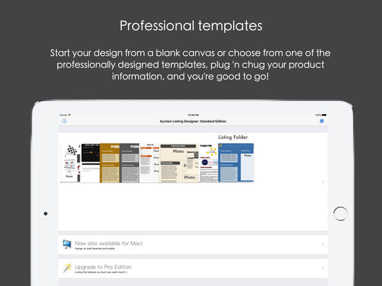 Auction Listing Designer Screenshots