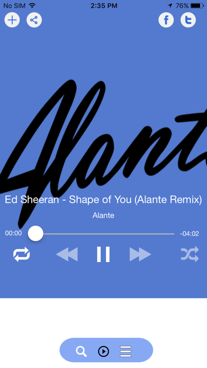 MusicTunes - Unlimited Song Player & Music Album Screenshot