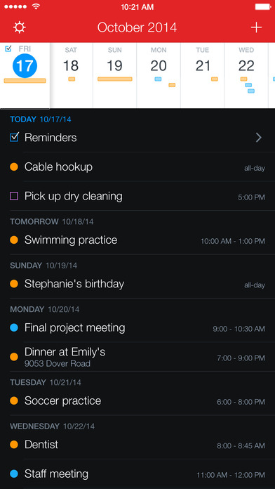 Fantastical 2 for iPhone - Calendar and Reminders Screenshot