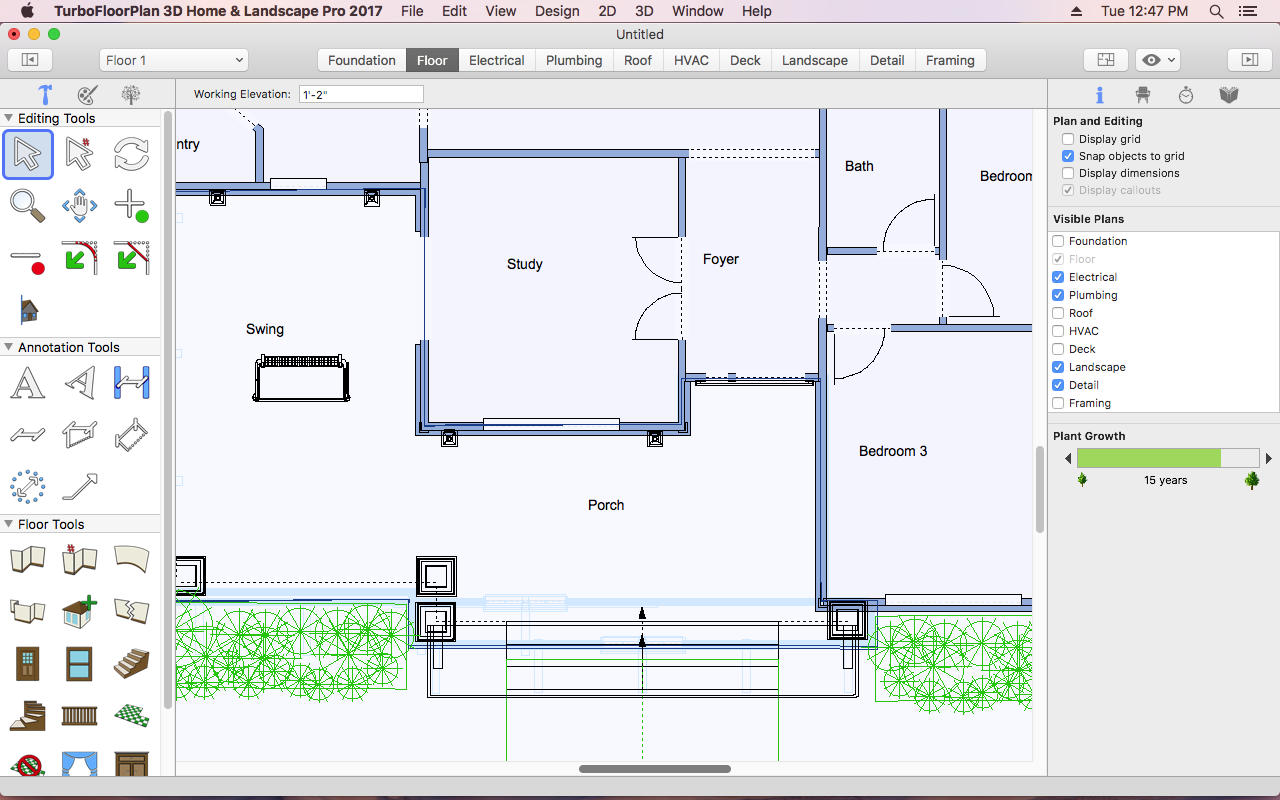 App shopper turbofloorplan home and landscape pro 2017 for Turbocad templates free