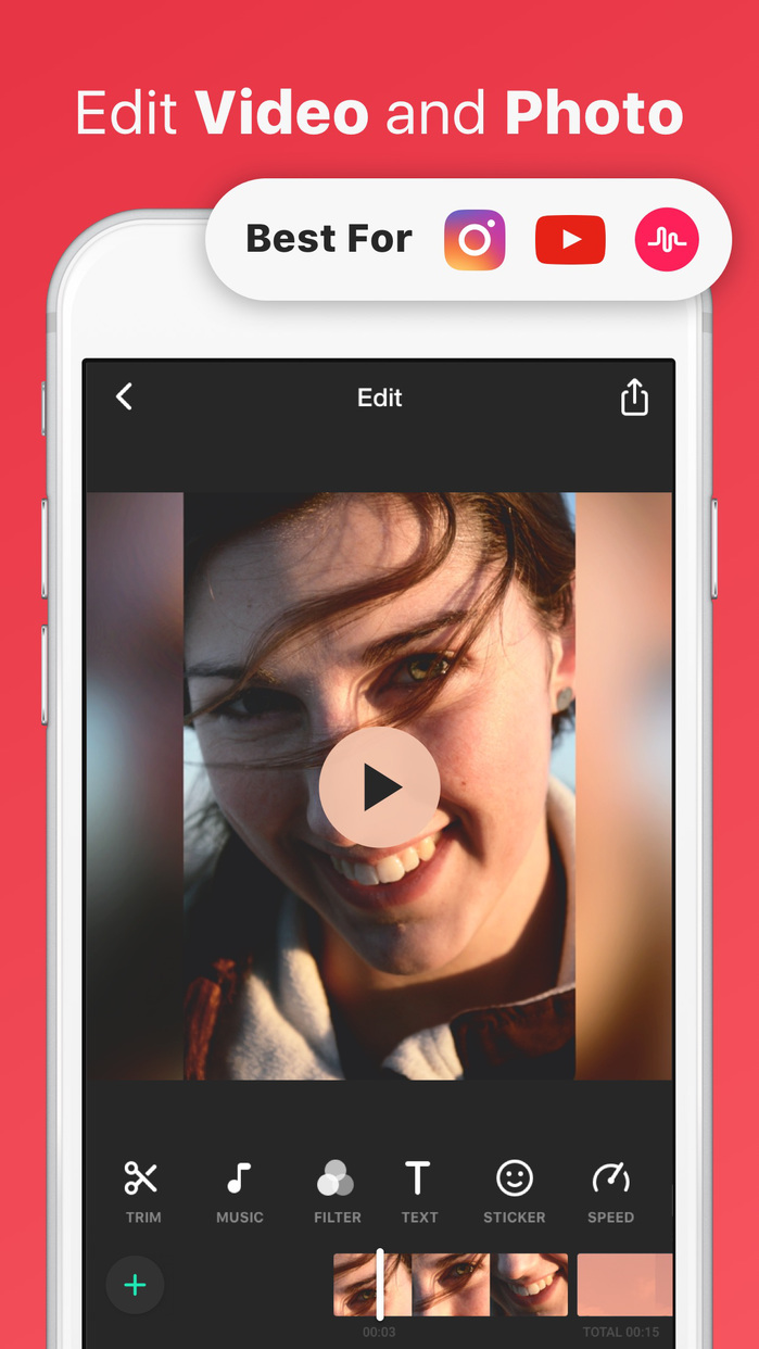 InShot Video Editor Music, No Crop, Cut Screenshot