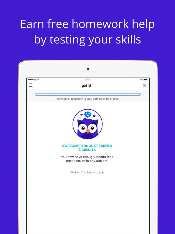 Homework help app