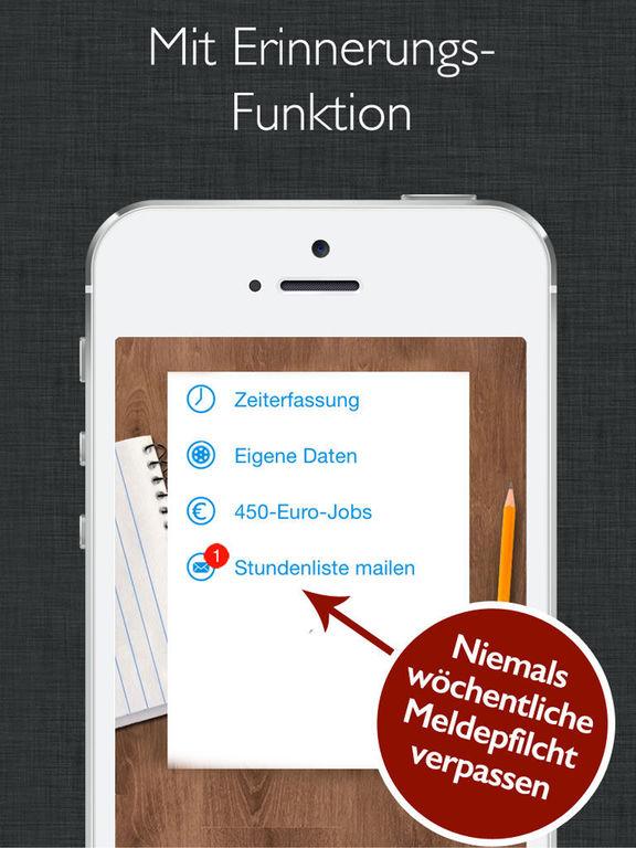 app shopper 450 euro job zeiterfassung mit stundenzettel business. Black Bedroom Furniture Sets. Home Design Ideas