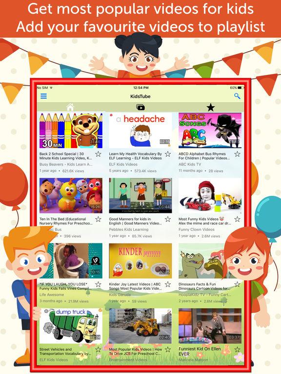 App Shopper: Kids Tube: Alphabet & abc Videos for YouTube ...