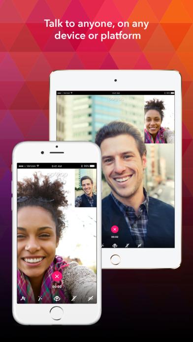 ooVoo – Video Calls, Messaging & Stories Screenshot on iOS