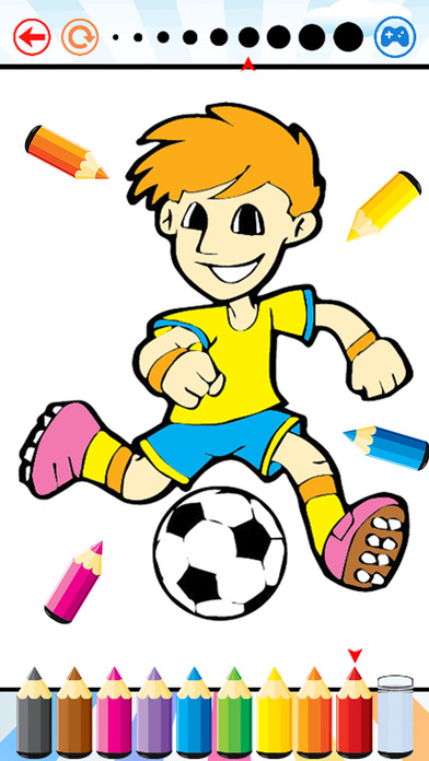Soccer Football Coloring Book - Sport drawing and painting for kid ...