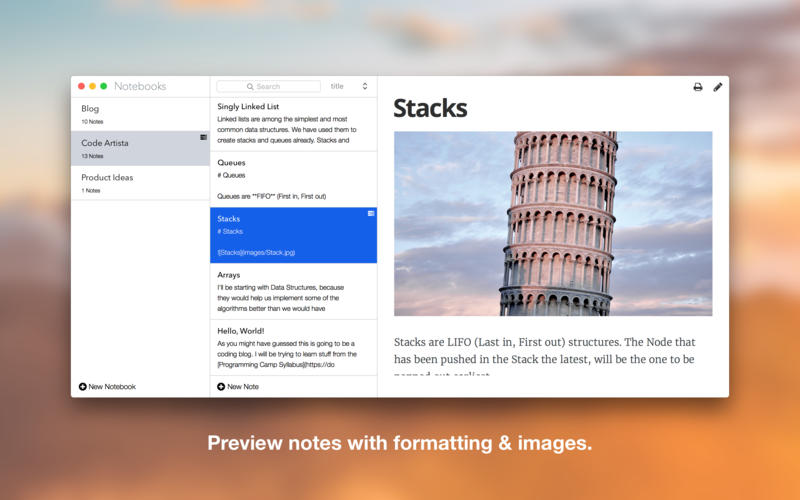 Falcon 1 4 4 – A simple, markdown based note-taking app