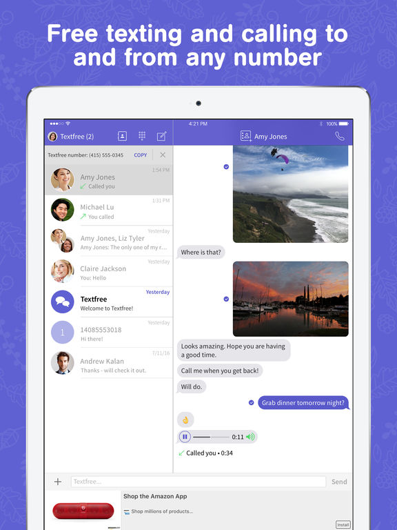 Textfree with voice app free download