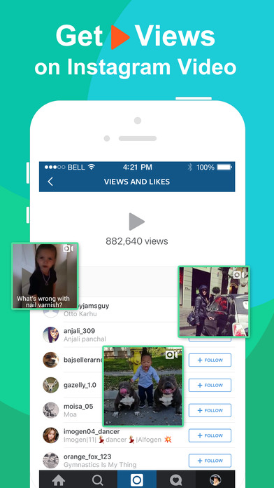 Get Likes & Followers for Instagram on Famousgram - Gain More Free Instagram Likes & Real Followers Fast Screenshot on iOS