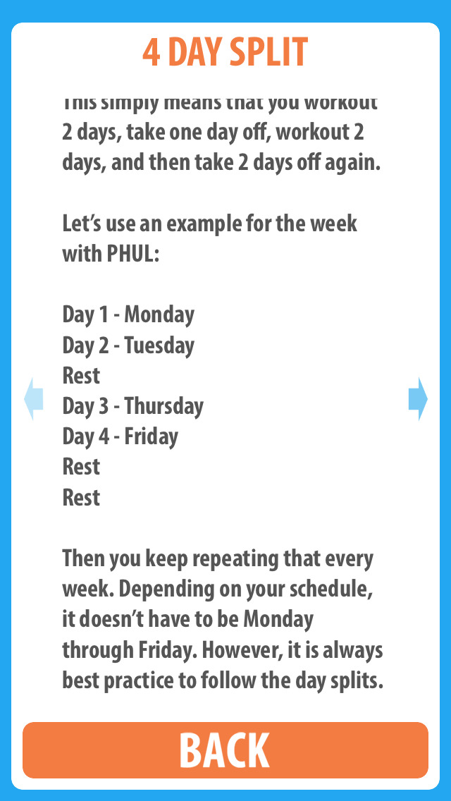 App Shopper: PHUL - The 4 day split workout designed for