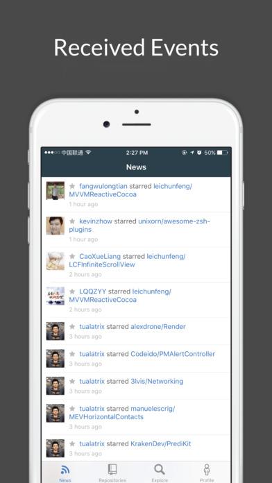 GitBucket - Open Source Client for GitHub Screenshot on iOS