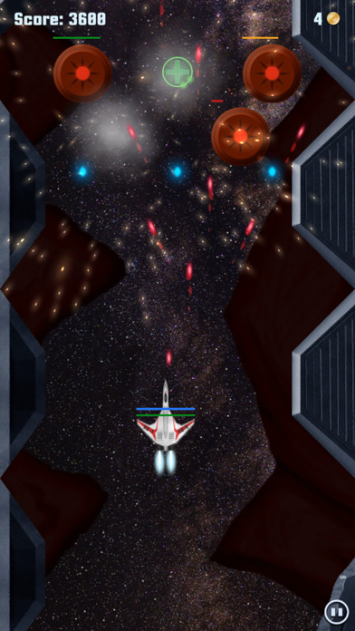 Incident X - Deep space plasma hell shoot them up Screenshot on iOS