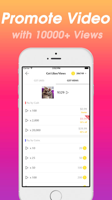 Followers + for Instagram - Get 1000 More Likes, Followers & Video Views on IG Free Screenshot on iOS