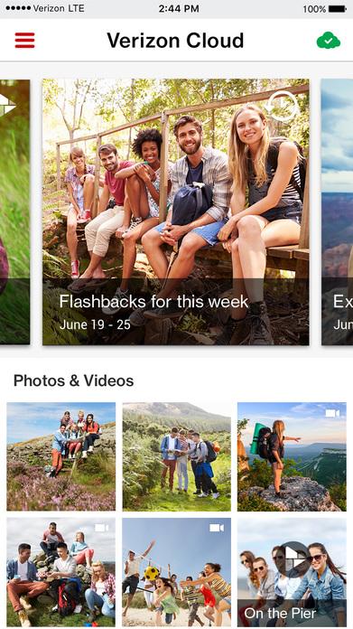 Verizon Cloud Screenshot
