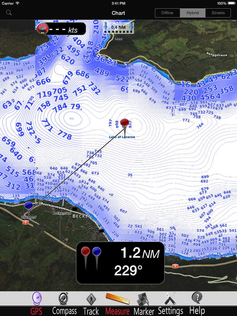 Lake Lucerne GPS Charts Pro