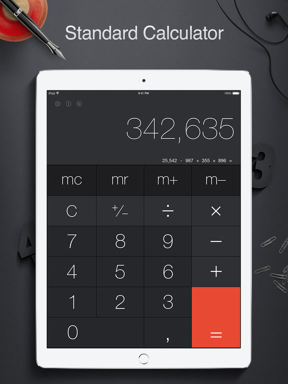 Calculator Pro For Ipad Standard And Scientific Screenshot