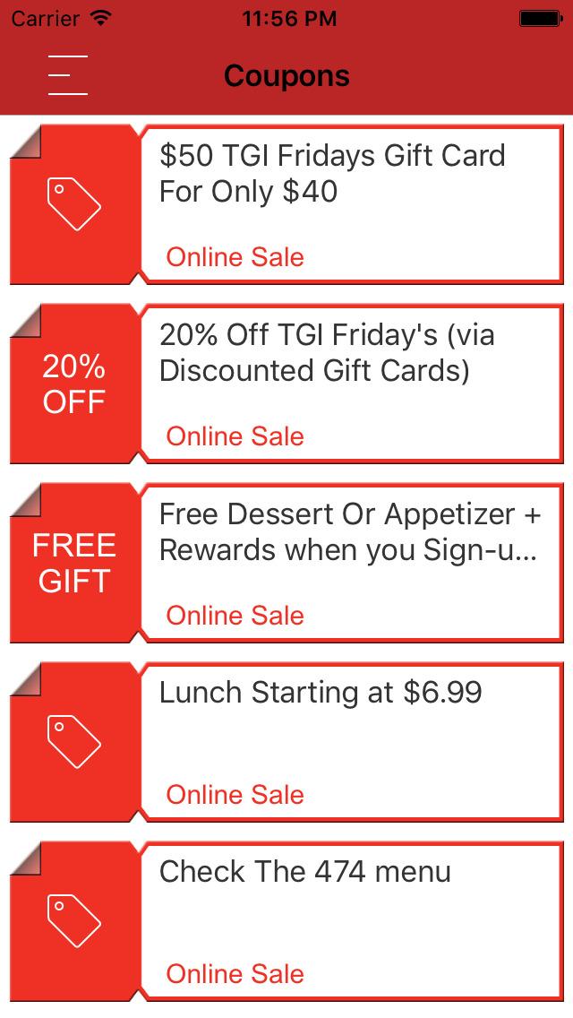 Tgi fridays free dessert coupon - Romantic hotels in california
