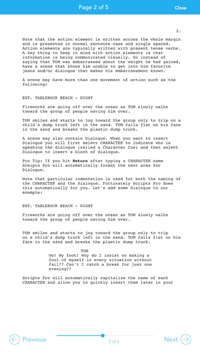 Scripts Pro - Screenwriting on the Go Screenshot