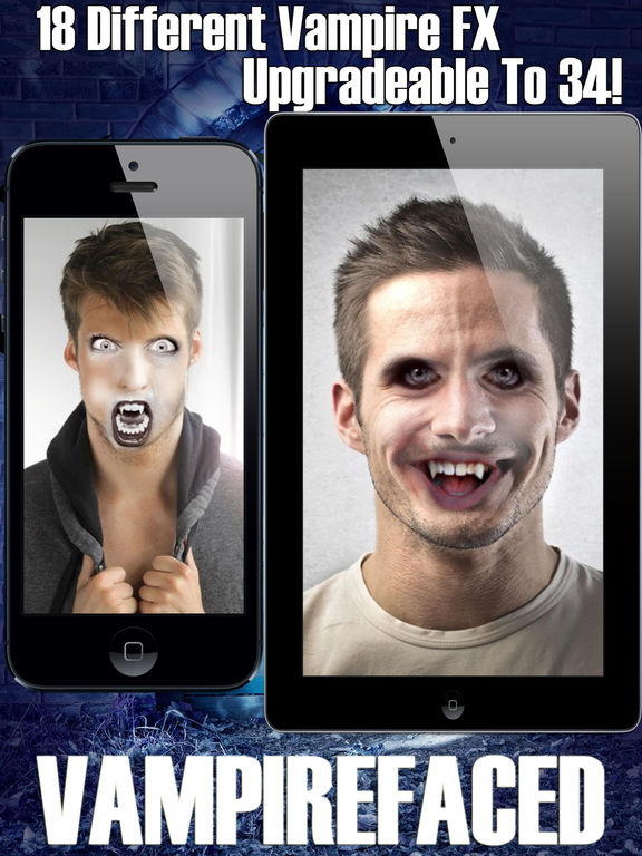 Fantastic Vampirefaced Vampire Gothic Photo Face Fx Booth On The App Store Hairstyles For Women Draintrainus