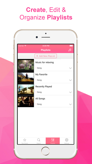 iMusic PlayTune - Free MP3 Music Player & Streamer for YouTube