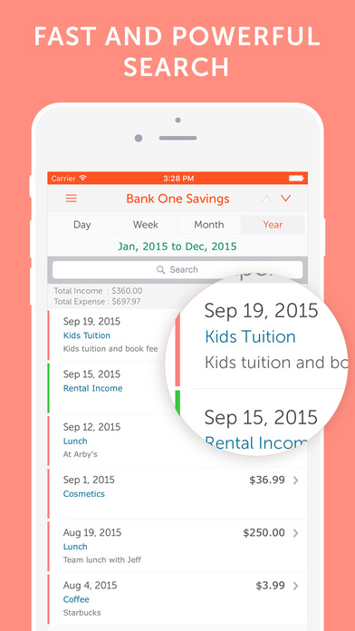 Easy Spending - Expense tracker, Save Money Screenshot