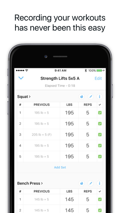Strong - Workout Tracker for Strength & Fitness Screenshot